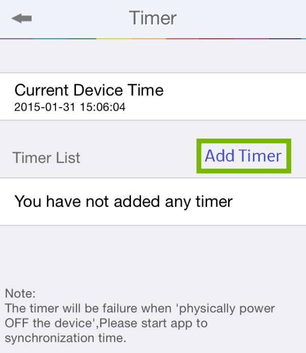 Add Timer highlighted