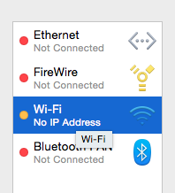 Network settings in macOS.