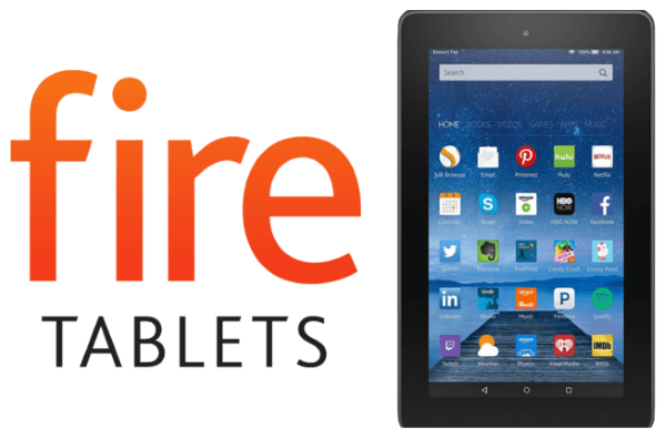 Amazon Fire Tablet.