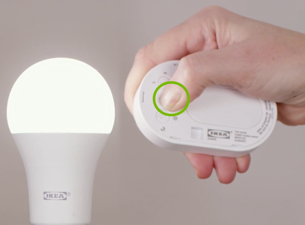 Linking bulb with motion sensor.
