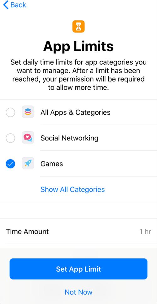 App limit introduction