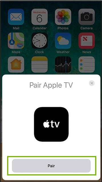 Apple pairing Screen