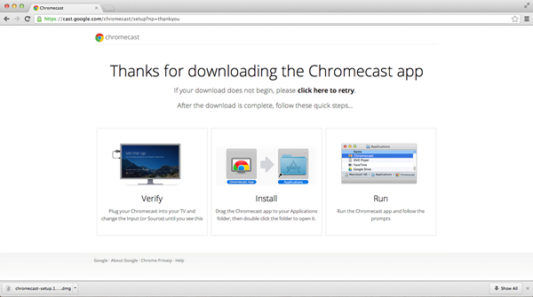 Chromecast installed on macOS
