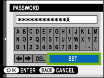 password entry screen