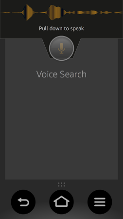 Mobile app showing voice detection.