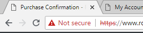 An unsecure website