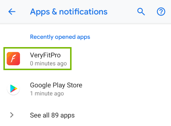 VeryFitPro highlighted in list of apps
