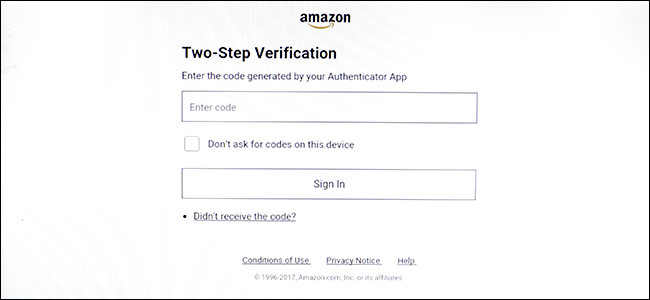 two factor verification entry