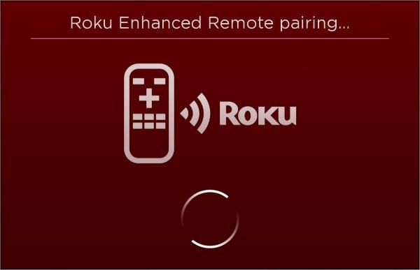 Enhanced Roku Remote pairing screen.