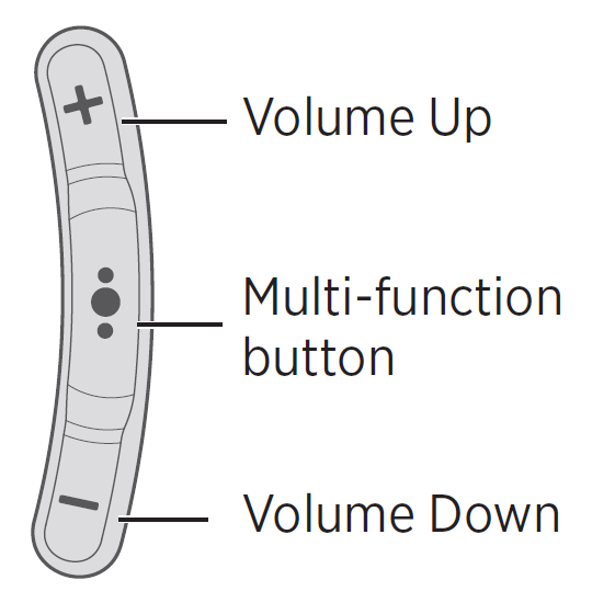 Volume and multi-function buttons