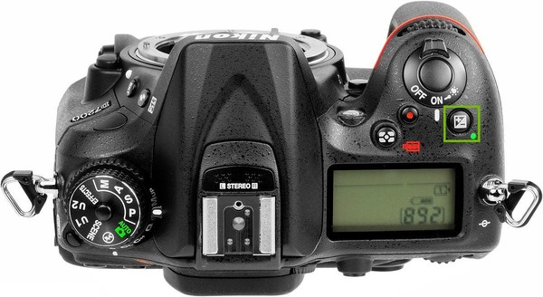 Camera top with plus minus button highlighted.