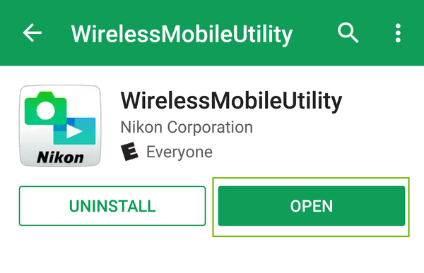 WirelessMobileUtility installed with Open highlighted.