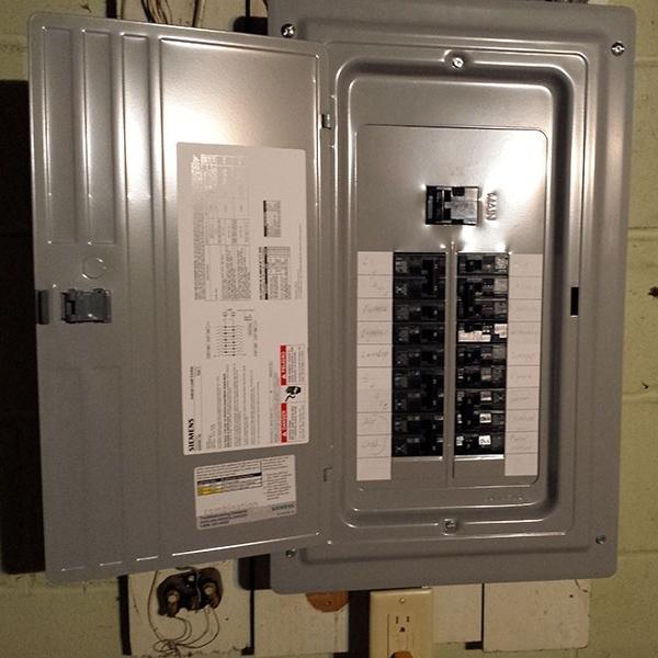 A circuit breaker box