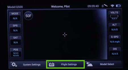 Flight settings on the st10+