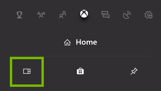 My games & apps highlighted in Xbox menu.