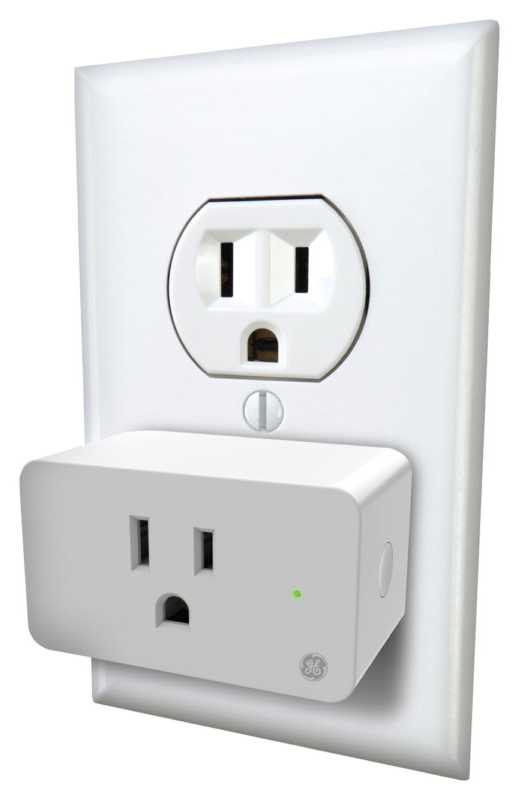 C by GE Smart Plug plugged into electrical outlet.