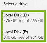 List of drives