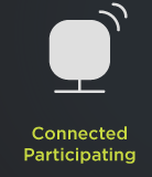 Connected and participating icon