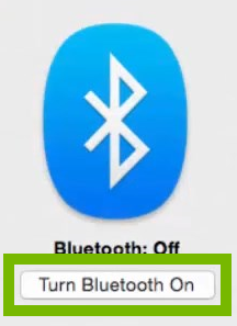 Bluetooth radio Enabled. Screenshot.