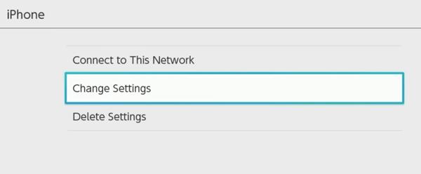 Nintendo switch change settings for internet