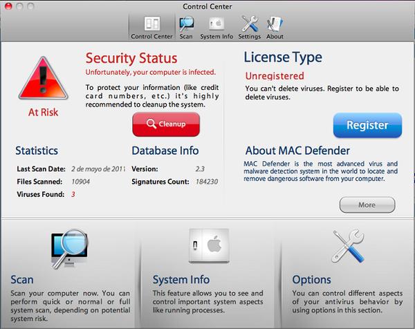 MAC Defender.
