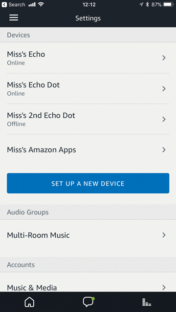 Amazon Alexa list of devices