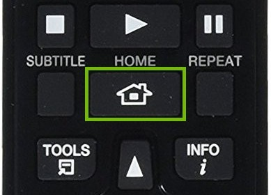 Remote with home button highlighted