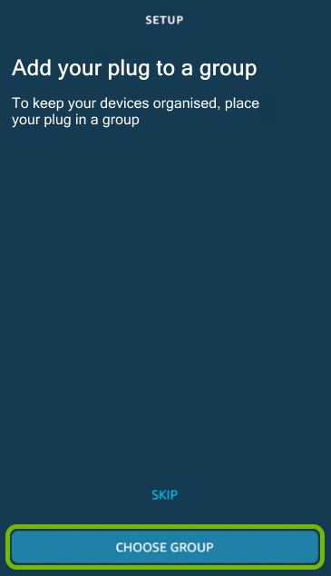 Choose Group button highlighted in Alexa app.