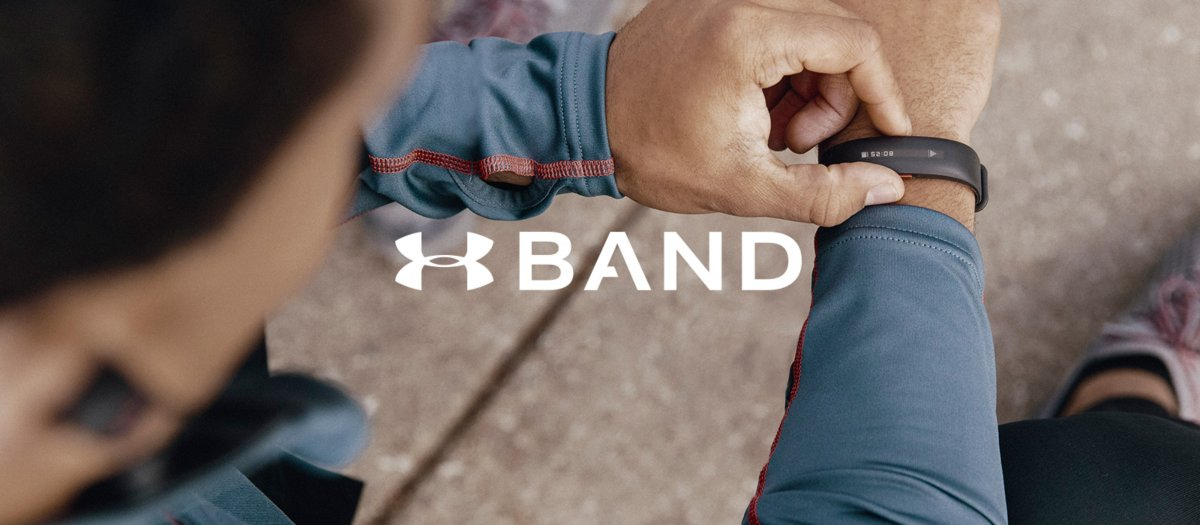 Under armour band logo.