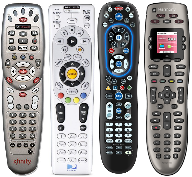 Common universal remotes.