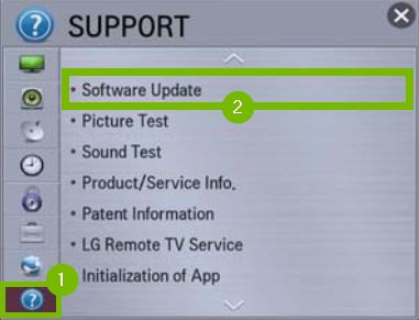 Others and Software Update options highlighted in settings.