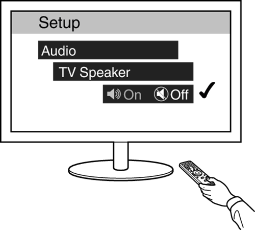 Turning a speaker off