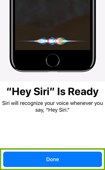 Hey siri is ready and setup