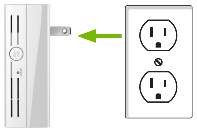 Range extender being unplugged from power outlet.