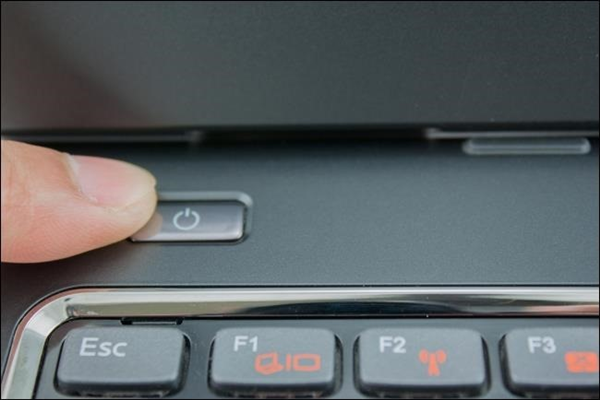 Power button on a laptop