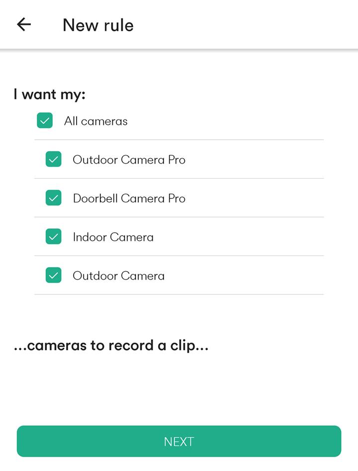 cameras to record a clip