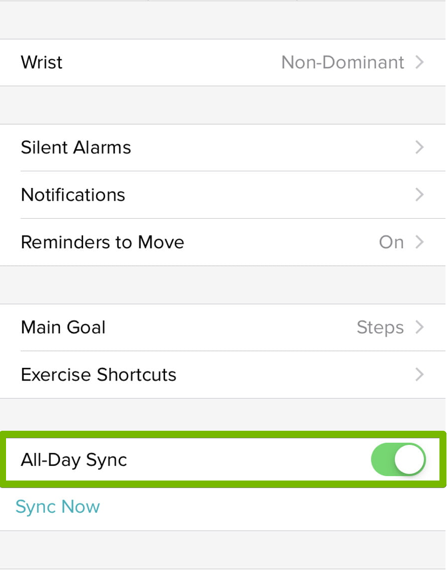 All day sync