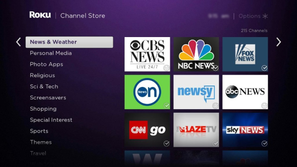 Roku Channel Store.