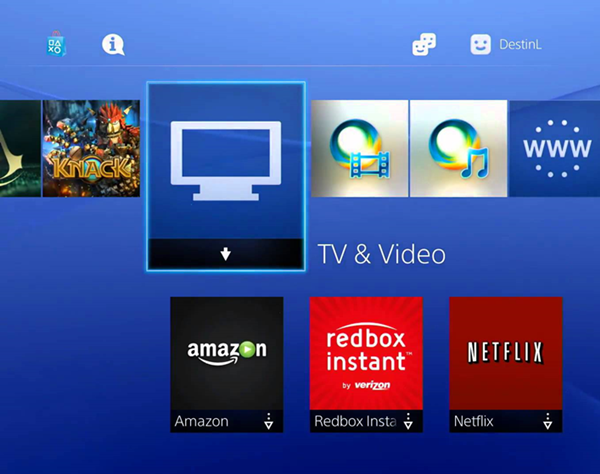 Playstation tv and video app