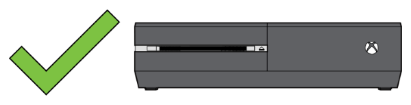 Correct horizontal position for Xbox One original.