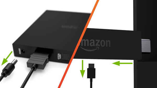 Demonstration of Fire TV restart procedure.