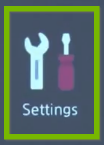 Settings button.