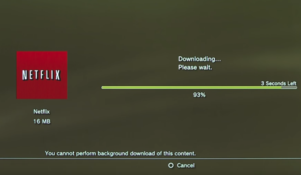 Netflix downloading on a PS3