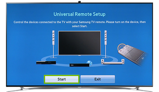 Universal Remote Setup start button.