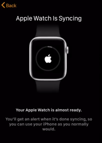 Syncing apple watch