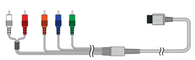 Nintendo Wii U component AV cables.