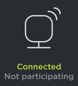 Connected and not participating