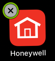Removal option highlighted on mobile app icon.