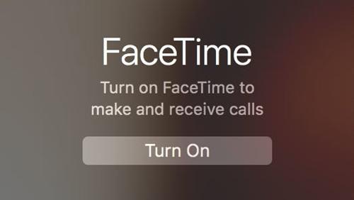 Turn facetime on