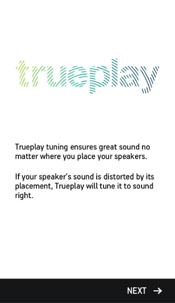 Trueplay introductory screen